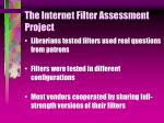the internet filter assessment project