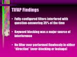 tifap findings