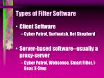 types of filter software