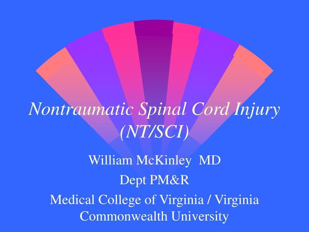 nontraumatic spinal cord injury nt sci l.