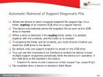 automatic retrieval of support diagnostic file