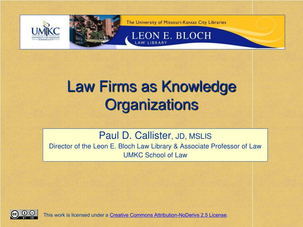 law firms as knowledge organizations l.
