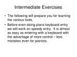 intermediate exercises