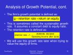 analysis of growth potential cont