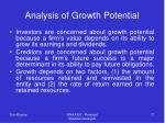 analysis of growth potential