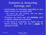 economic vs accounting earnings cont