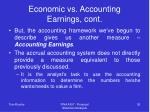 economic vs accounting earnings cont36
