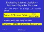 evaluating internal liquidity accounts payables turnover53