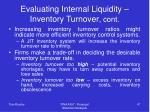 evaluating internal liquidity inventory turnover cont47