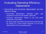 evaluating operating efficiency depreciation
