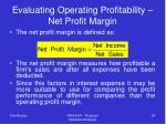 evaluating operating profitability net profit margin