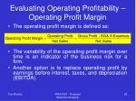evaluating operating profitability operating profit margin