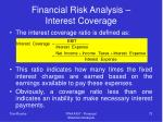 financial risk analysis interest coverage