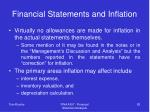 financial statements and inflation