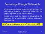 percentage change statements