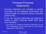 principal financial statements