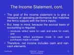 the income statement cont21