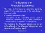 the notes to the financial statements