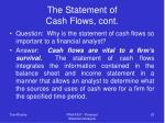 the statement of cash flows cont