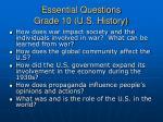 essential questions grade 10 u s history