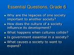 essential questions grade 6