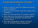 essential questions grades 1 5
