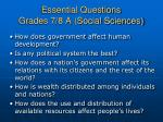 essential questions grades 7 8 a social sciences