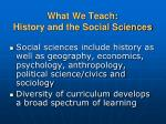 what we teach history and the social sciences