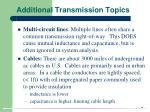 additional transmission topics