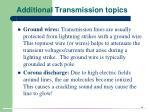 additional transmission topics36