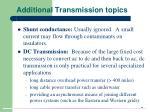 additional transmission topics37