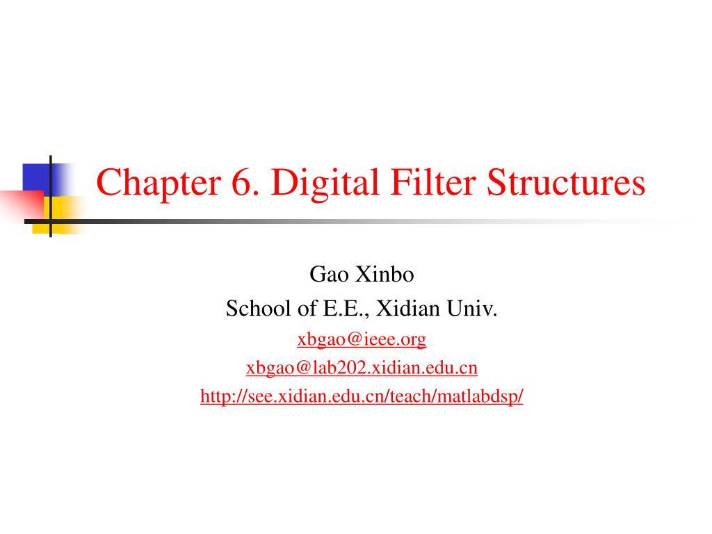 chapter 6 digital filter structures l.