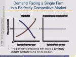 demand facing a single firm in a perfectly competitive market