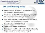 cas cards working group