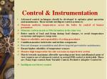 control instrumentation