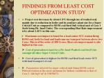 findings from least cost optimization study