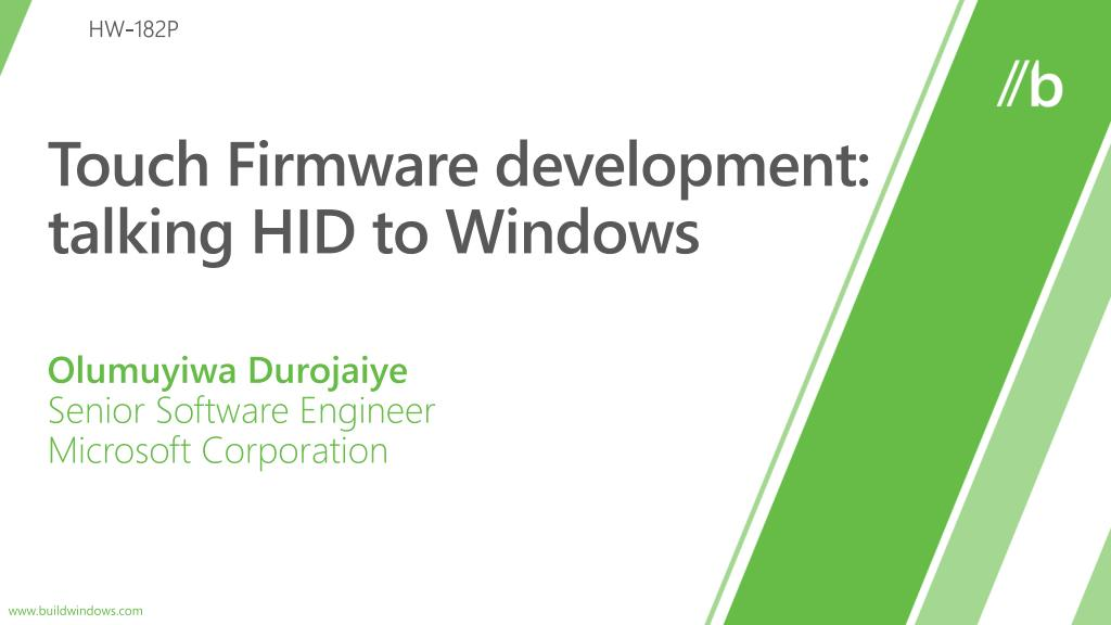 touch firmware d evelopment talking hid to windows l.