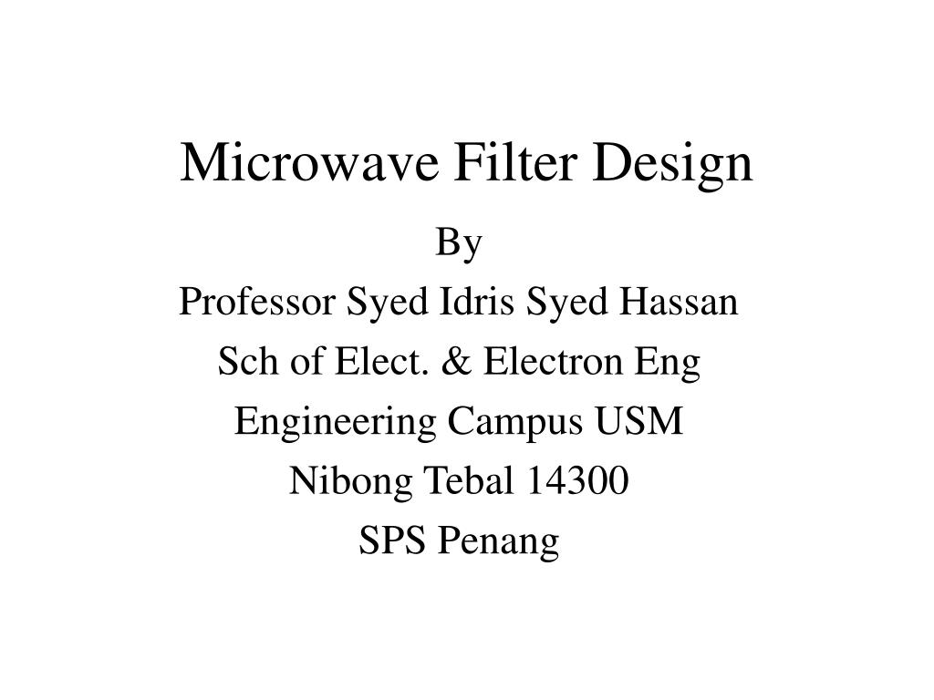 Ppt Microwave Filter Design Powerpoint Presentation Id332301 Pass Bandpass And Bandstop Functions By Rearranging The Circuit L