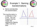 example 1 naming transformations9