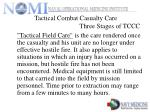 tactical combat casualty care three stages of tccc8