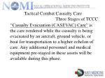 tactical combat casualty care three stages of tccc9