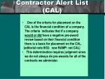 contractor alert list cal