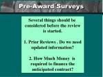 pre award surveys