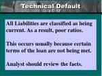technical default