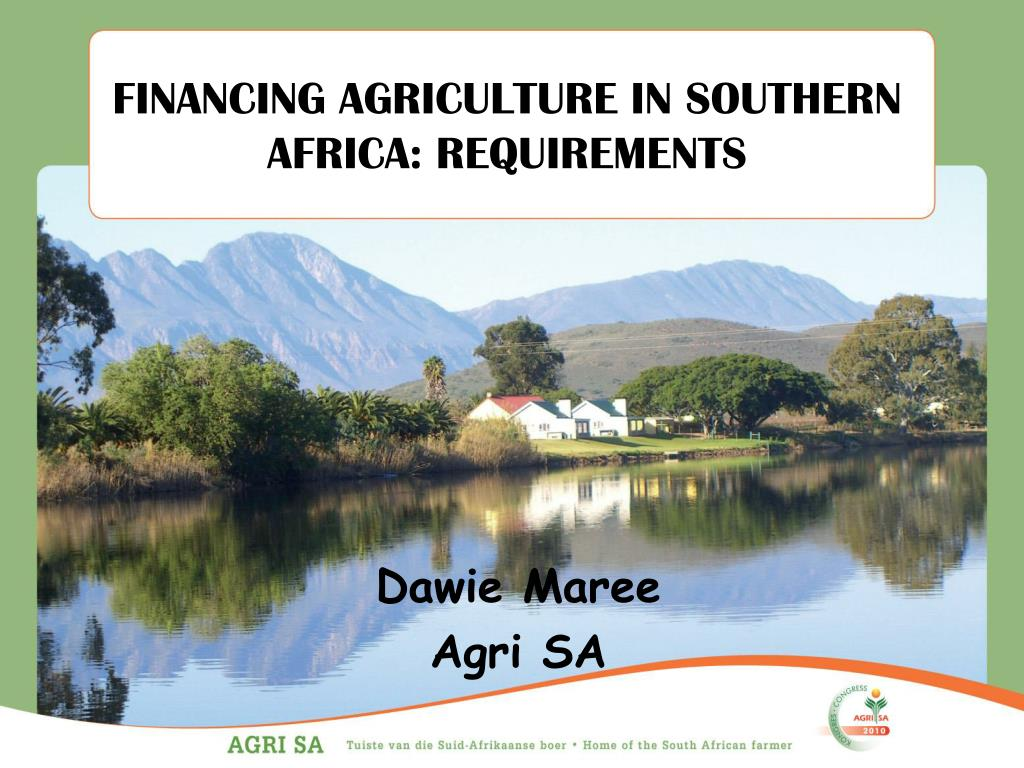 financing agriculture in southern africa requirements l.