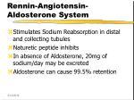 rennin angiotensin aldosterone system