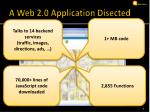 a web 2 0 application disected