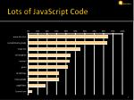 lots of javascript code