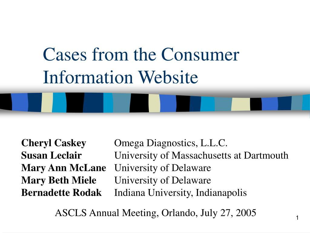 cases from the consumer information website l.