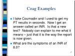 coag examples